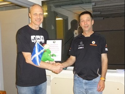 Steve receiving Nessie